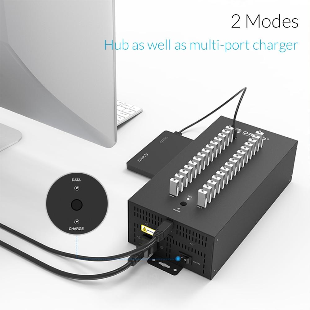 ORICO 30 puertos USB 2.0 Hub para el lector de tarjetas TF SD U-disk - Periféricos de la computadora - foto 5