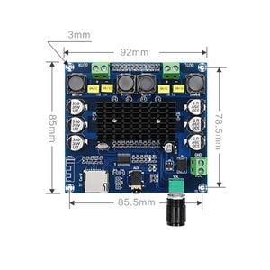 Image 2 - TDA7498 Bluetooth Verstärker Audio Board 2x50 W Stereo Digital Power Verstärker Modul Unterstützung Tf karte AUX Für Hause theater