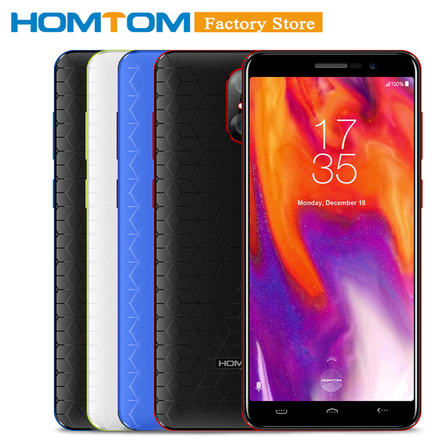 HOMTOM S12 18:9 Full Screen 3G Mobile Phone 5-inch Android 6.0 MTK6580 Quad Core 1GB RAM+8GB ROM 5MP + 8/2MP Back Dual Cameras