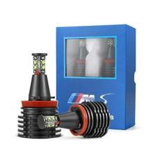 Светодиодный светильник CANBUS с свободными ангельскими глазами, головной светильник белого цвета для BMW E90 E92 E82 E60 E70 X5 E71 X6, противотуманный светильник s, фары для bmw