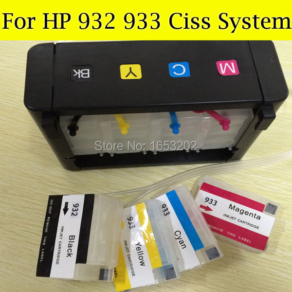 4 Color HP932 933 Continuous Ink Supply System For HP Officejet 7512 7510 6700 7110 7610
