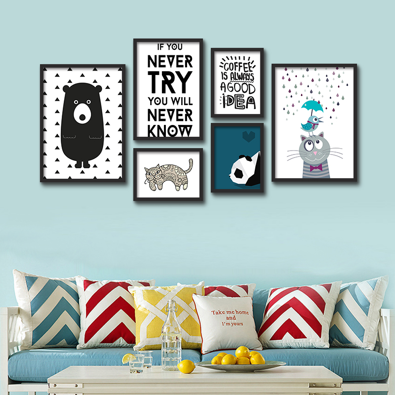 Hot decorative pictures poster art for kids room baby - Posters gigantes para pared ...