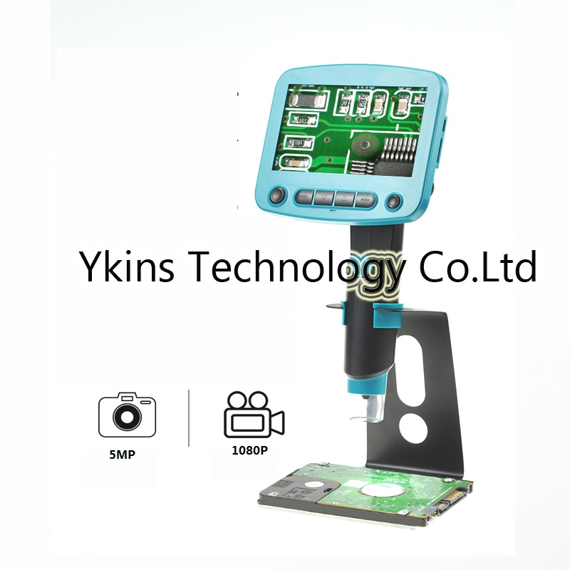 1-800X 4.3 inch LCD screen portable digital video microscope camera with 8 led lights for industrial soldering BGA  PCB repair1-800X 4.3 inch LCD screen portable digital video microscope camera with 8 led lights for industrial soldering BGA  PCB repair