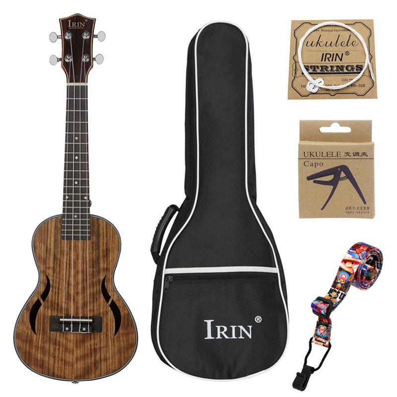 Irin Tenor Ukulele Kits 26Inch Walnut Wood 18 Fret Acoustic Guitar Ukelele Bag Capo Strap Mahogany Neck Hawaii 4 String Guitar