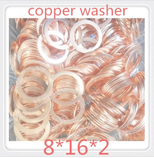 1000PCS High Quality M8 16 2 Brass Washer Gasket Red Copper Washer Gasket