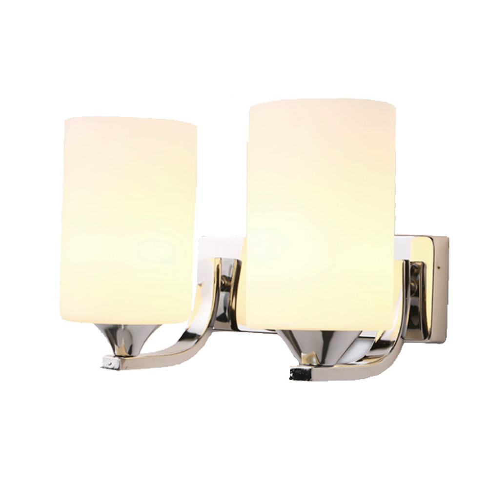ФОТО Fashion modern Glass wall lamp single or double head lamp LED bedside lamp simple creative bedroom study corridor wall lights