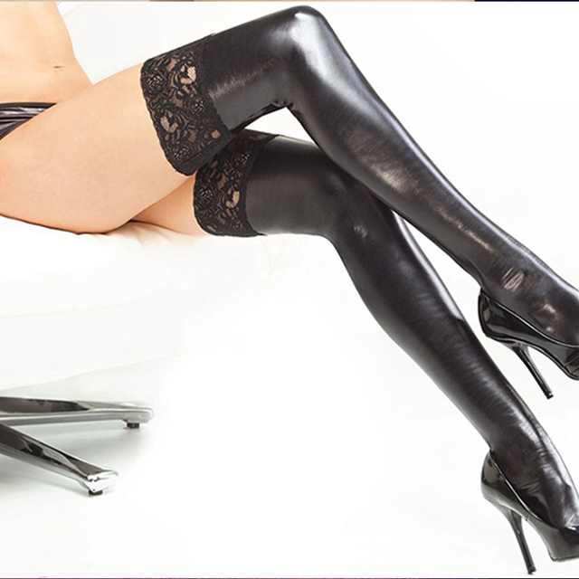 Lace Latex Stockings
