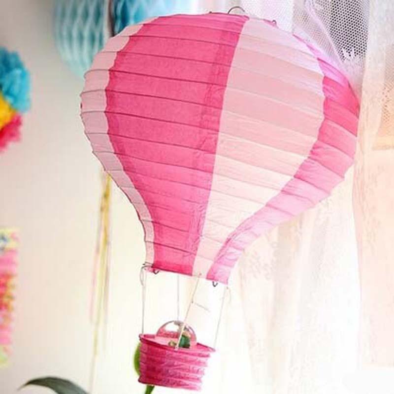 10pcs/lot Chinese Paper Ball Lanterns Hot Air Balloon Wedding Party Decor Lanterns Gift Diameter 30cm