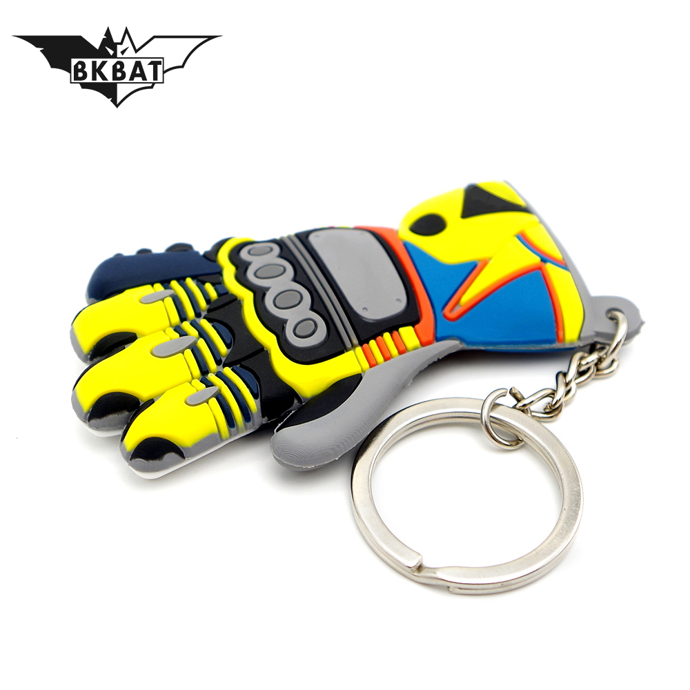 Lovely Moto Keychain Glove Logo Motorcycle Accessory Key Ring Voiture Chain For ford keychain mini cooper keychain bmw keychain image