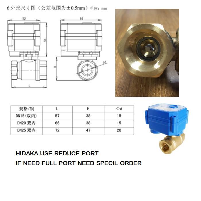 Hidaka WLD-806 (dn15*2 pc) sensor de alarme