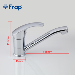 Image 5 - Frap Deck Mounted Kitchen Sink Faucet Hot and Cold Water Chrome/ Mixer Tap 360 degree rotation Basin mixer F4536