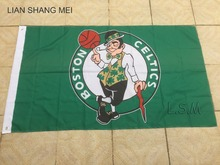 Boston Celtics Flag 3×5 FT 150X90CM Banner copper grommets Polyester NBA flag , free shipping