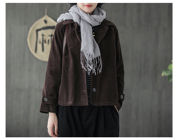 94723e20d81 Japanese Mori Girl Hippie Boho Autumn Jacket Female Solid Color Corduroy  Jacket Women Casual Corduroy Tunic Jacket Top OuterCoat-in Basic Jackets  from ...