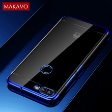 MAKAVO Case For Huawei Nova 2 Luxury Soft  Silicone Transparent 3D Laser Plating Cover For Huawei Nova 2 Plus Phone Cases