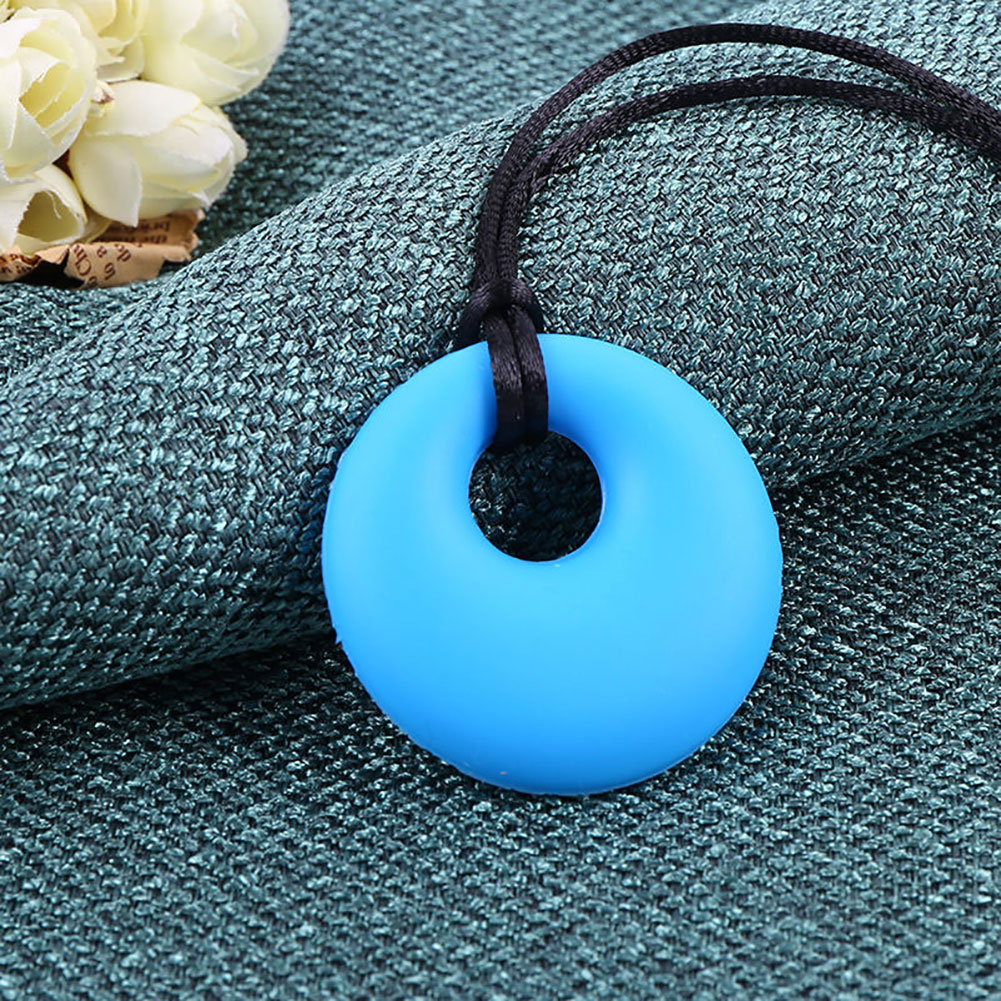 Mom Round Pendant Necklace Baby Teething Nursing Bite Chew Soft Silicone Teether Toys Free Mommy Nursing Necklace Infant Toy in Teethers from Toys Hobbies