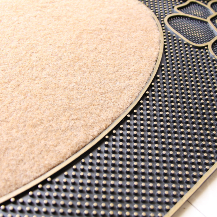 Tapis de porte mode tapis européen en caoutchouc antidérapant haute qualité tapis motif Rose pour salon chambre salle de bain décoration de la maison - 5