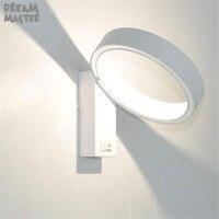 2019 nuevas luces LED modernas de pared para dormitorio  anillo blanco  lámpara de lectura para pared  sala de estar  pasillo  pasillo  apliques led|Lámparas LED de pared de interior| |  -