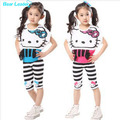 Bear Leader  Retail Cartoon children clothing set 2 pcs summer suit girl's dress tops shirts + pants whole suits