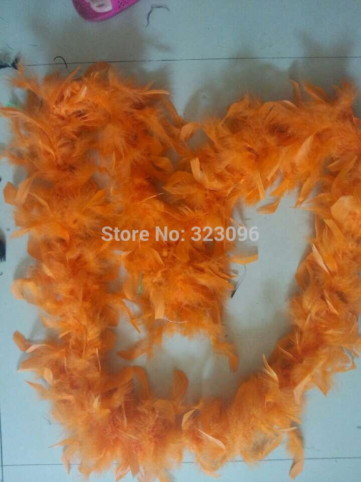 10pcs 2M Long Deluxe Feather Boa Wedding Party DIY Craft Decoration Costume Dress UP Prop 40G