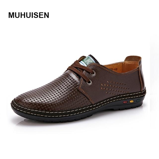 Натуральная Кожа Мужчины Обувь Летние 2017 Дышащий Мягкая Вождения мужская Ручной Работы Чистая Поверхностные Мокасины chaussure homme