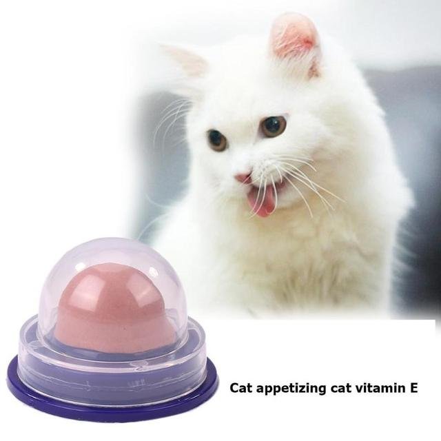 Healthy Cat Snacks Catnip Sugar Candy Licking Solid Nutrition Gel Energy Ball Toy for Cat Increase Drinking Water Help Digestion 3