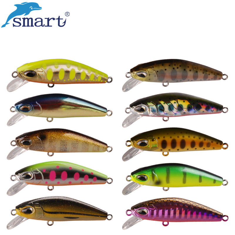 Smart Minnow Bait 5cm 6.1g Sinking Fiske Lures VMC Hook Isca Kunstig Pesca Carp Fishing Wobblers Tackle Peche A La Carpe