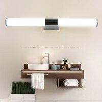 מראה מודרני הוביל אורות מנורת קיר עמיד למים אקריליק האמבטיה אקריליק קיר רכוב תאורת שולחן איפור AC90-260V