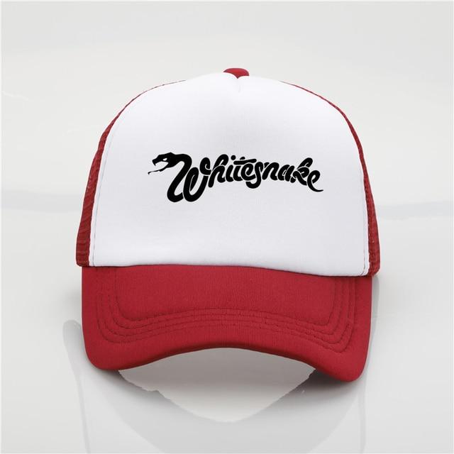 5ed71e90014 Whitesnake band printing net cap baseball cap Men and women Summer Trend  Cap New Youth Joker
