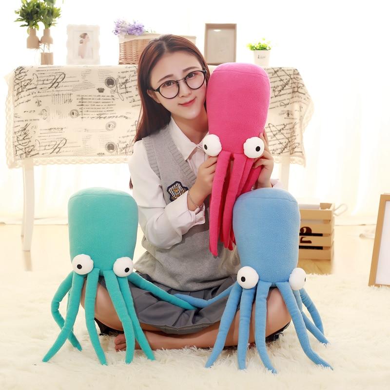 цены  Yesfeier 45cm Cartoon Sea Octopus Doll Pillow lovely Squid Plush Toys  Soft Cushion stuffed birthday gift for Chidlren