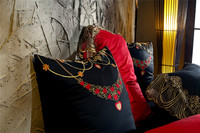 Black Red Beige Luxury Egyptian cotton Wedding Bedding set Queen King size Embroidery Lace Duvet cover Bedsheet set 38