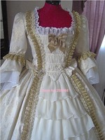 Custom Made 1700s Colonial Dress 1770s Maria Antoinette Gown For Wedding Bridal 18th Century Dress