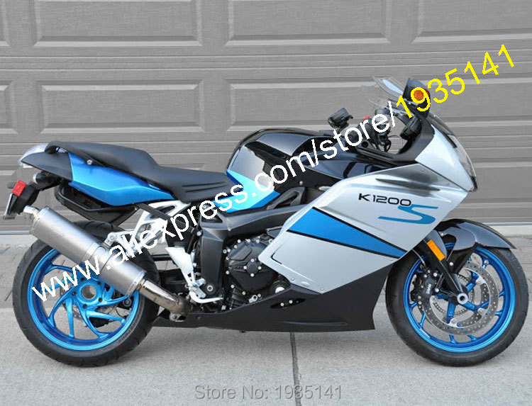 Hot Sales,For BMW K1200S Accessories 2005 2006 2007 2008 K 1200 S 05 06 07 08 Blue Silver Black Aftermarket Sportbike Fairings hot sales for bmw k1200s parts 2005 2006 2007 2008 k1200 s 05 06 07 08 k 1200s yellow bodyworks aftermarket motorcycle fairing