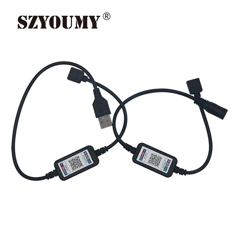 SZYOUMY USB LED Strip Bluetooth 5 24v Tira LED RGB Tape Flexible Ribbon Ambilight TV Light