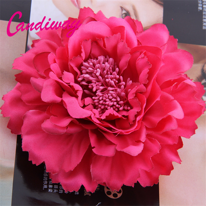 Flower Headwear Flower Corsage Women Brooch Pins Wedding Party Gift Fabric Flower Popular Style 1PCS Hair Clips hair accessories