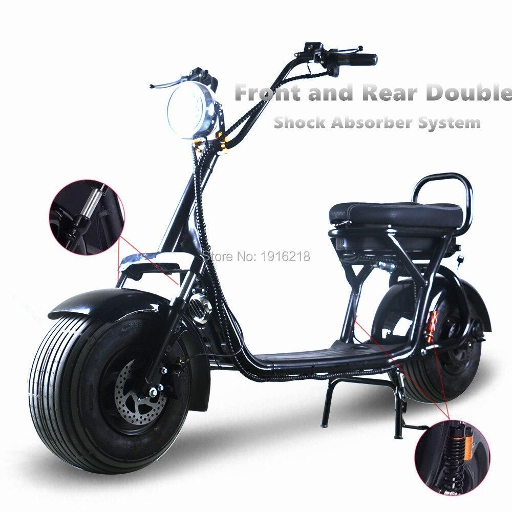 Elettrico Scooter Hoverboard batteria rimovibile Al Litio Anteriore Posteriore Assorbimento Degli Urti Adulto Scooter Elettrico