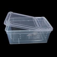 Террариум для рептилий прозрачная пластиковая коробка насекомых рептилий транспортировка разведение живого питания кормушка