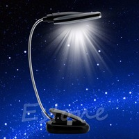 Clip On Pro Flexible USB Battery Power 28 LED Light Bed Table Desk Reading Lamp Great