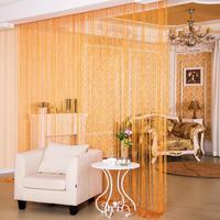 3.0*2.8m Shiny Tassel Flash Silver Line String Curtain Door Window Panel Sheer Curtains Divider Yarn String Curtain Drape Decor