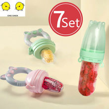 Infant Food Nipple Feeding Safe Feeder Baby Pacifier Bottles Nipple Teat Fresh Fruit Nibbler Baby Bite Molars Pacifier(China)