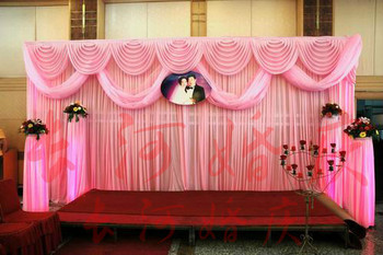 3m*6m Luxury Wedding Backdrop with Beatiful Swag Wedding drape and curtain wedding marriage decoration