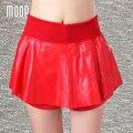 5 Colores de cuero genuino cortos faldas de las mujeres falda plisada faldas jupe saia LT369 etek 100% Piel de Cordero cortocircuito El Envío libre