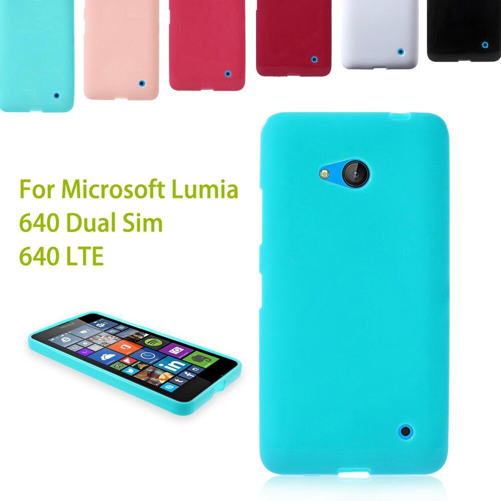 Dulcii For Microsoft Lumia 640 Dual Sim Glossy Outer Brushed Inner Soft TPU Cover for Lumia 640 Dual Sim / 640 LTE - 5.0 inch
