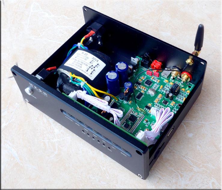 Finished ES9028Q2M Lossless Player USB Fiber Coaxial Input DAC Bluetooth 4.2 smal a6 hifi digital amplifier 50wx2 dac digital 110v 220v native dsd512 usb optical coaxial lp player cd analog input
