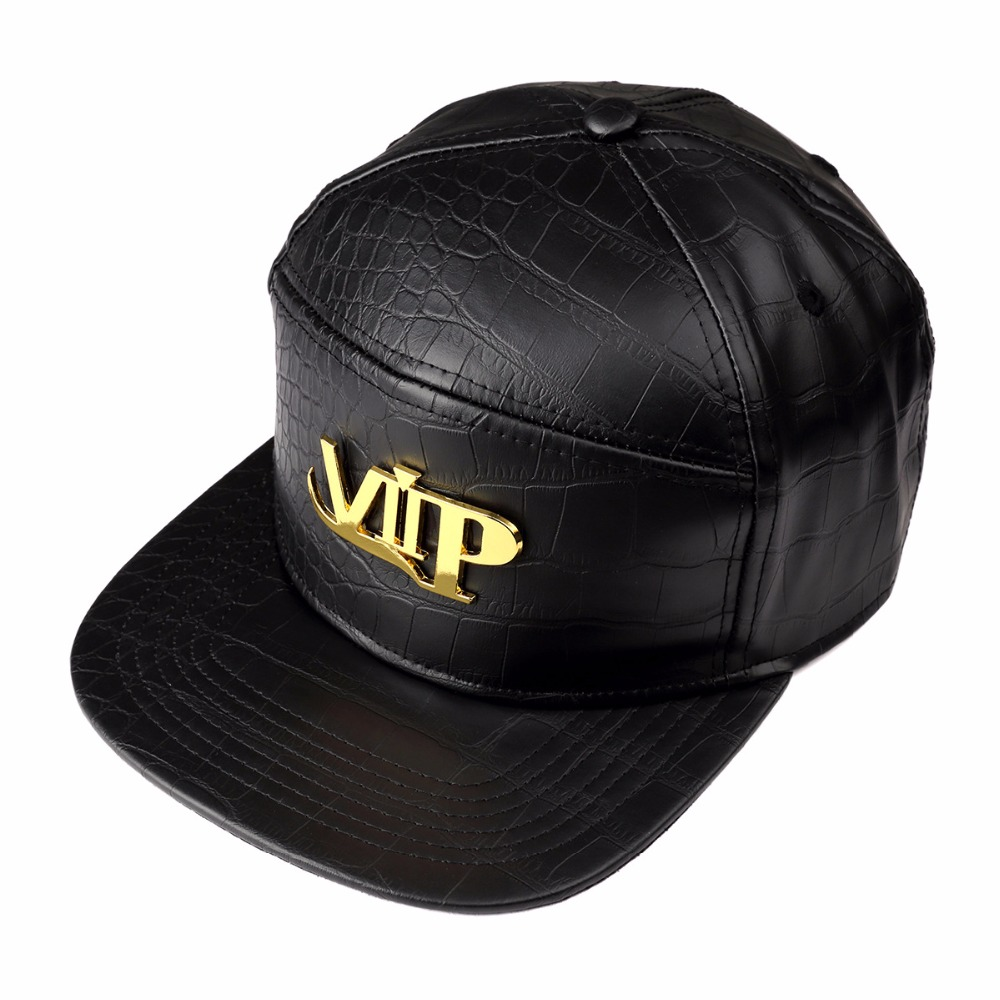 7c2b2e109c8bef NYUK New Arrival Fashion Mens Hip Hop Vip Baseball Caps PU Leather Casual Unisex  Hats Gold/Black/Red Snapback New Style-in Baseball Caps from Apparel ...