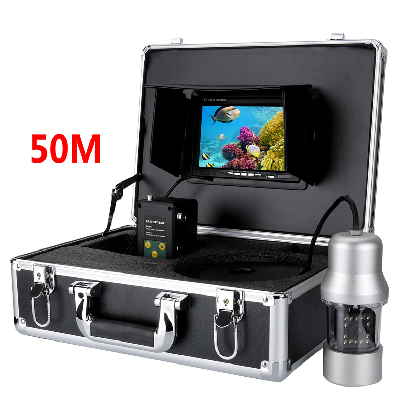 50M 7 inch monitor Cable 360 Degree View  Rotate Underwater Monitor Underwater Fishing Camera System Remote Control Fish Finder buy monitor cable