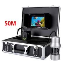 50M 7 inch monitor Cable 360 Degree View Rotate Underwater Monitor Underwater Fishing Camera System Remote Control Fish Finder(China)
