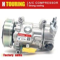 For sanden sd7c16 compressor for Peugeot 2008 207 208 308 3008 307 508 407 5008 607 9651911480 9659875780 96598758 9659875880