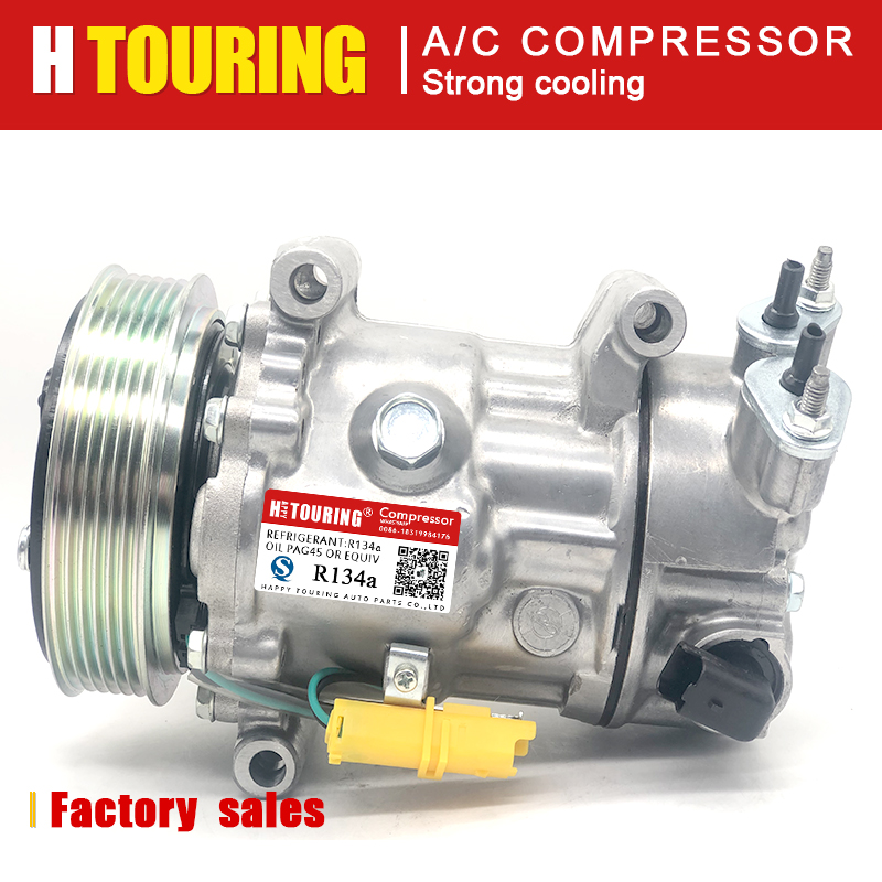 For sanden sd7c16 compressor for Peugeot 2008 207 208 308 3008 307 508 407 5008 607 9651911480 9659875780 96598758 9659875880