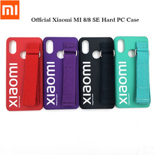 Original Xiaomi Mi8/8 SE Hard PC Kickstand Case Wrist Strap Plastic Bracelet Cover Street Style Back Phone Skin For Mi 8/Mi 8 SE(China)