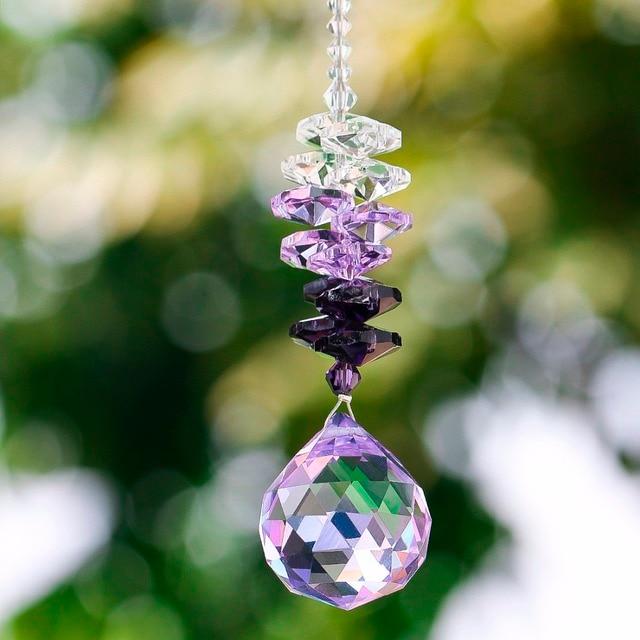 H & D magnifique fenêtre en cristal suspendus capteur de soleil Feng Shui guérison prisme capteur de soleil arc-en-ciel fabricant décor à la maison voiture miroir cadeau